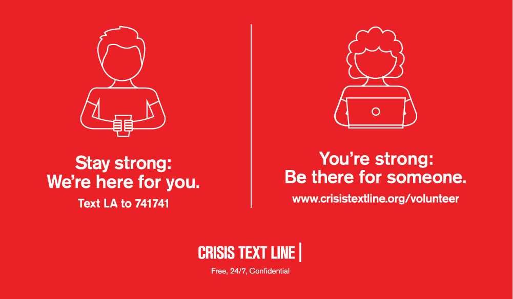 Crisis Text Line offers free, 24/7, confidential services for people in crisis via text, as well as an innovative way to volunteer.