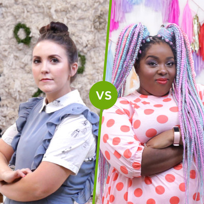 Evite's Tiny Party Challenge influencers Amina Mucciolo and Brittni Mehlhoff are going head-to-head to create a holiday party using a $500 Target GiftCard™