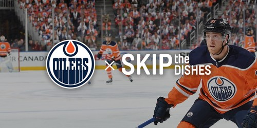 SkipTheDishes is the official food delivery app of the Edmonton Oilers (CNW Group/SkipTheDishes)