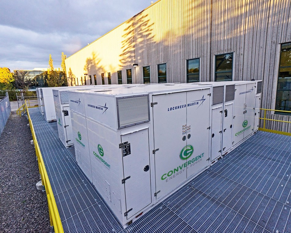 Convergent Energy + Power completes an 8.5-MWh energy storage project at Husky Injection Molding System Ltd. in Bolton, Ontario (CNW Group/Convergent Energy + Power)