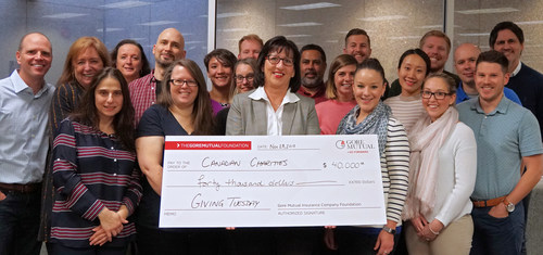 Gore Mutual Insurance Company is celebrating Giving Tuesday by giving $40,000 to Canadian charities. (CNW Group/Gore Mutual Insurance Company)