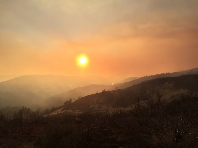 Smoke from Northern California fires where ScanEagle assisted with fire suppression.