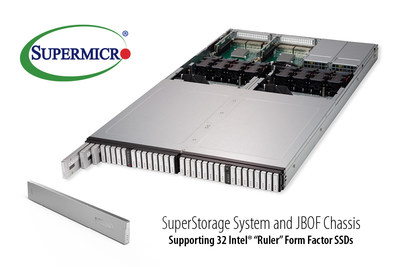 "upermicro first with 1U all-flash NVMe solution optimized for new Intel ""Ruler"" form factor SSDs"