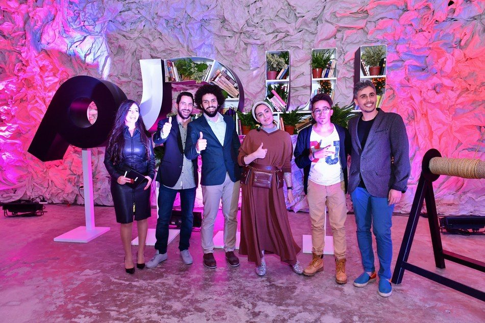 The heroes of Sadeem posing for a picture at the launch event in Beirut (PRNewsfoto/Sadeem)