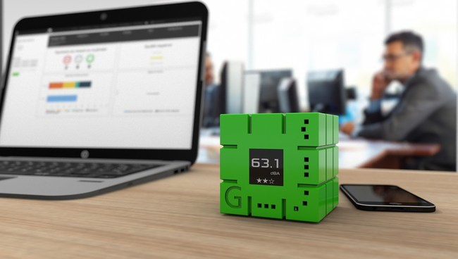 GreenMe cube in green color