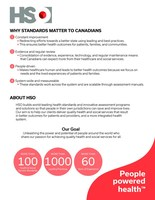 Click here to find out more on why quality standards matter to Canadians (CNW Group/Health Standards Organization (HSO))