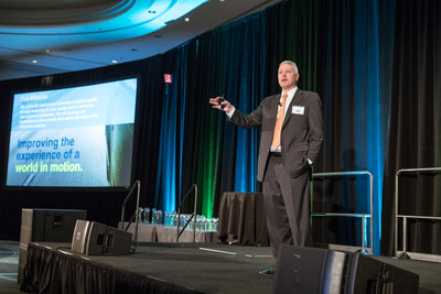 Bruce McDonald, chairman and CEO for Adient, addresses 53 of Adient's top suppliers at Supplier Expectation Day.