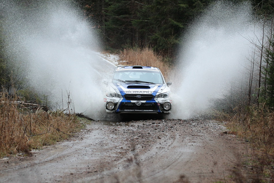 Subaru Rally Team Canada Takes Home Decisive Tall Pines Win (CNW Group/Subaru Canada Inc.)