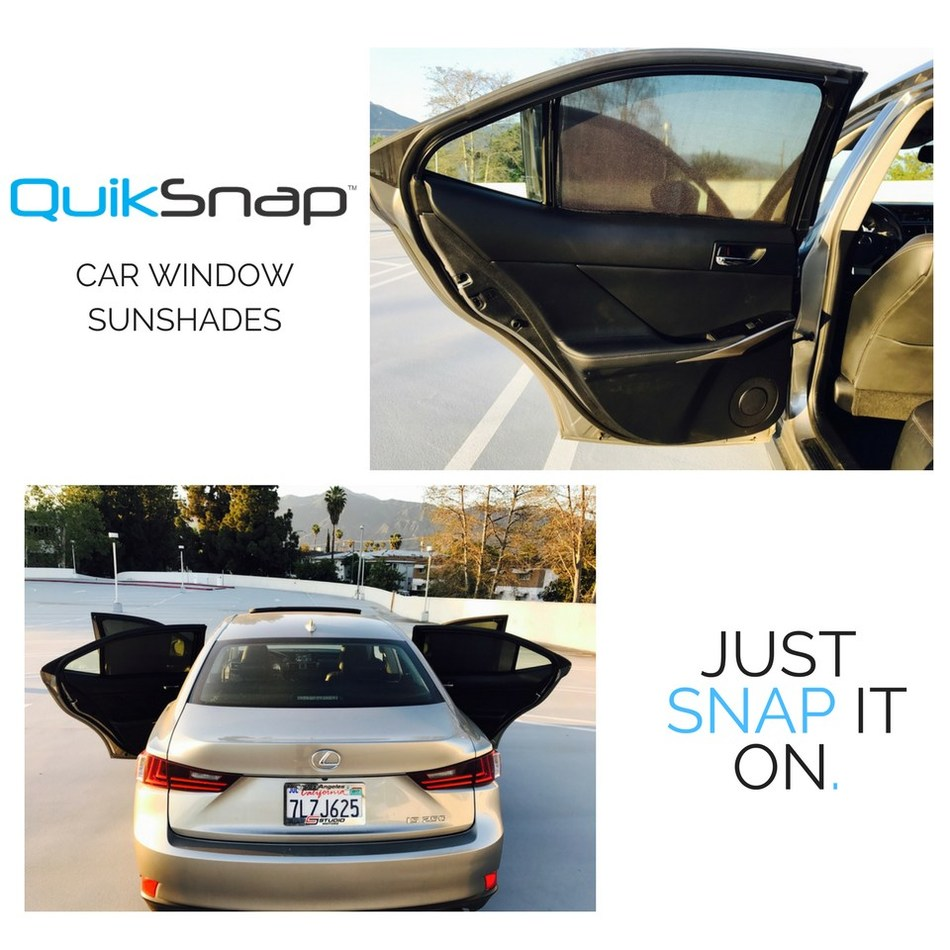 QuikSnap, a Customized Car Window Sunshade, Launches on Kickstarter (PRNewsfoto/QuikSnap)