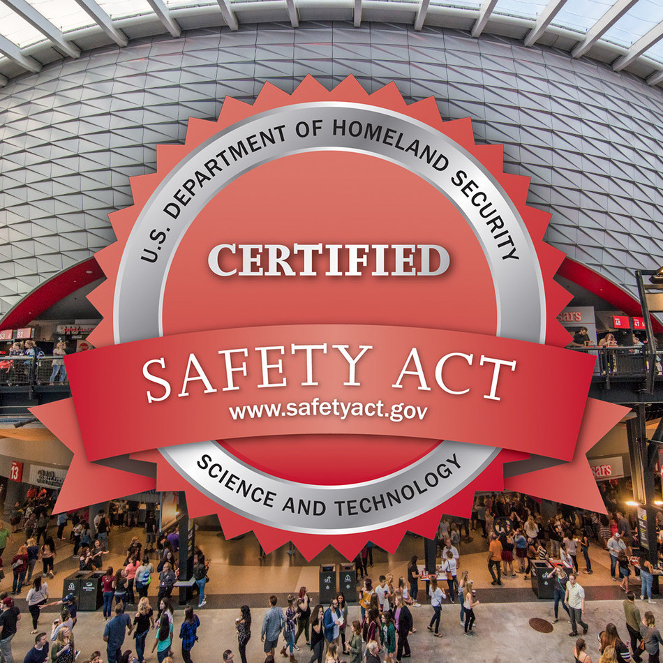 Little Caesars Arena, home of the NHL's Detroit Red Wings and NBA's Detroit Pistons, has received SAFETY Act Certification, the highest level of protection awarded by the U.S. Department of Homeland Security. Managed and operated by Olympia Entertainment, Little Caesars Arena becomes the first combined NHL, NBA and entertainment venue to earn the certification.