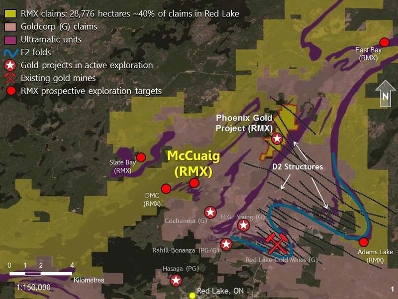 Diagram 1: Rubicon's Red Lake Properties (CNW Group/Rubicon Minerals Corporation)