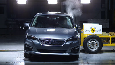 Euro NCAP impact test on Impreza (European specs.) (PRNewsfoto/Subaru Europe)