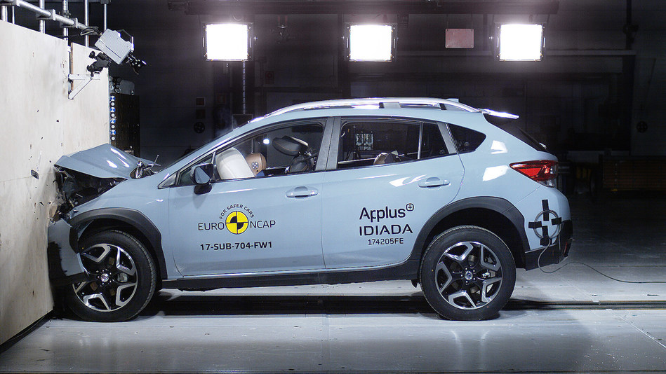 Euro NCAP impact test on Subaru XV (European specs.) (PRNewsfoto/Subaru Europe)