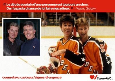 Wayne Gretzky et l'acteur Alan Thicke (Groupe CNW/Fondation des maladies du coeur et de l'AVC)