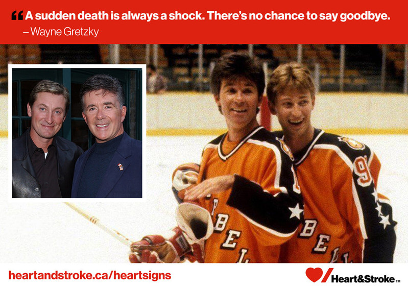 Wayne Gretzky and actor Alan Thicke (CNW Group/Heart and Stroke Foundation)