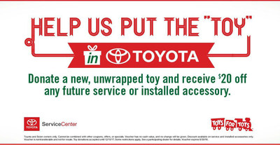 Toyota Vacaville customers can donate to Toys for Tots in exchange for a deal on future service