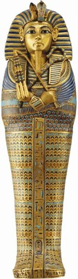 """The Gold Inlaid Canopic Coffinette of Tutankhamun is one of the more than 150 treasures that will tour the world as part of the newly announced exhibition """"KING TUT: Treasures of the Golden Pharaoh."""" (c) Laboratoriorosso, Viterbo/Italy"""