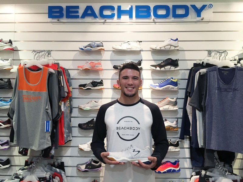 Bruno Pucci with the Beachbody Apparel and Footwear Collection (PRNewsfoto/Global Brand Partners Pte. Ltd.)