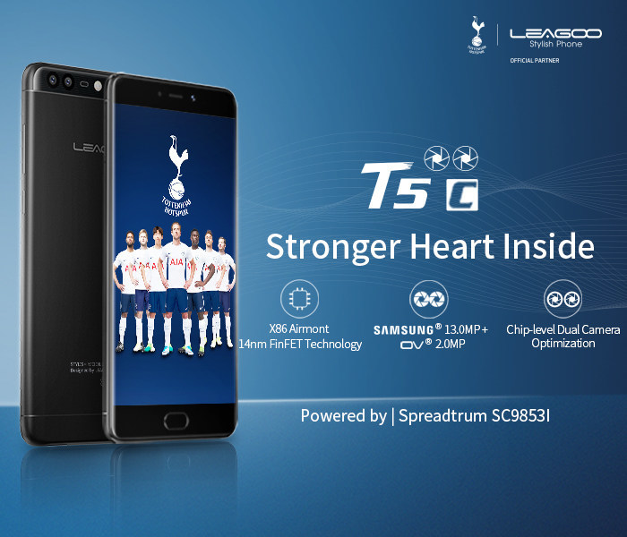 LEAGOO T5c is powered by Spreadtrum SC9853I