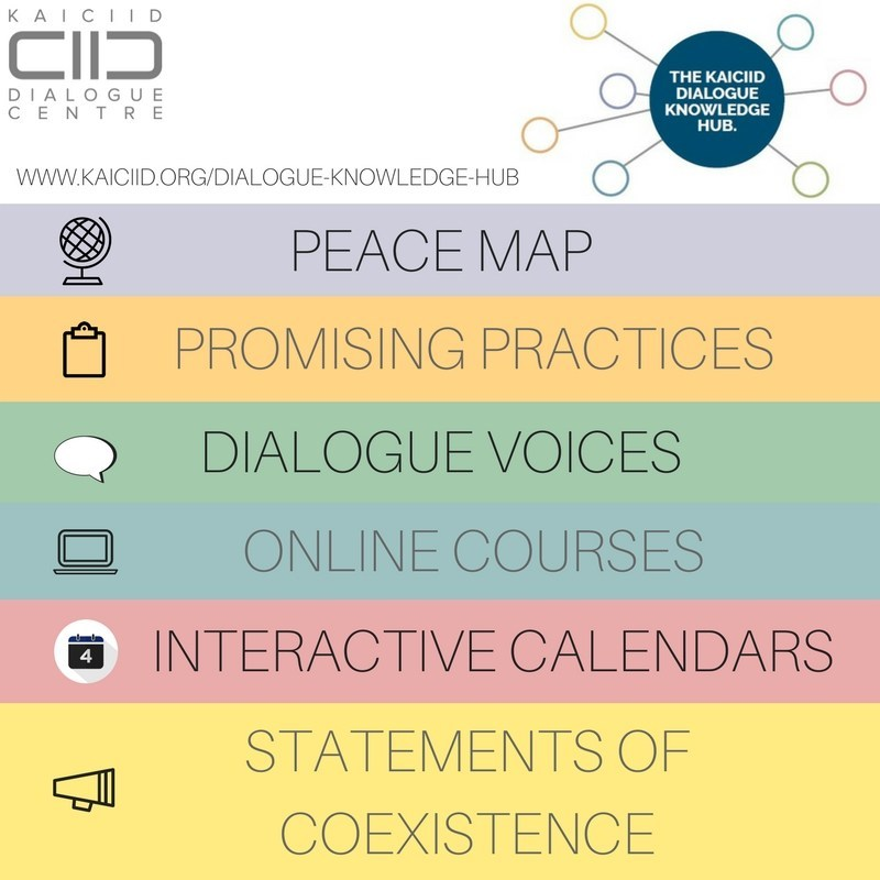The KAICIID Dialogue Knowledge Hub is a new online database of resources, publications, and contact directories on interreligious dialogue. Visit the website at www.kaiciid.org/dialogue-knowledge-hub (PRNewsfoto/The IDC)