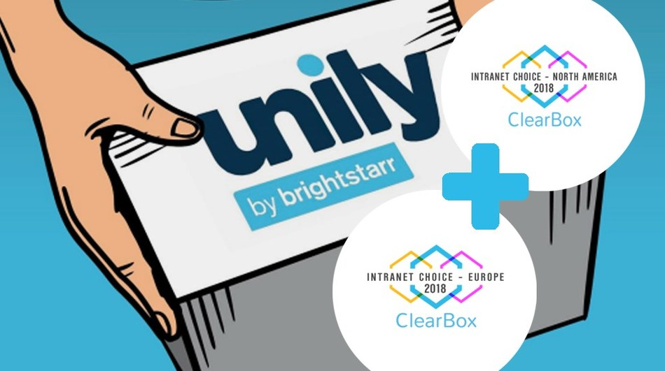 Unily comes out on top as 'Intranet Choice Europe and North America' in Clearbox Intranet Report (PRNewsfoto/BrightStarr)