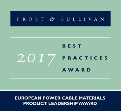 Frost & Sullivan Recognizes Borealis with the Product Leadership Award in the Power Cable Materials Industry