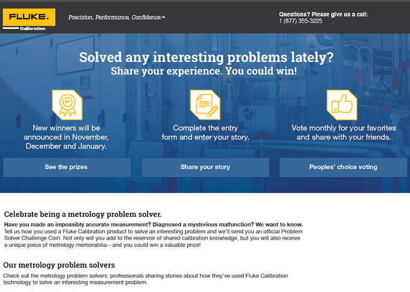 share your best problem solving story and win in the fluke  fluke calibration announces the metrology problem solver challenge a new way for technicians to share