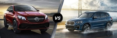 Chicago drivers can compare the 2018 Mercedes-Benz GLE vs the 2018 BMW X3 to see which luxury crossover SUV offers the features and specs they're looking for.