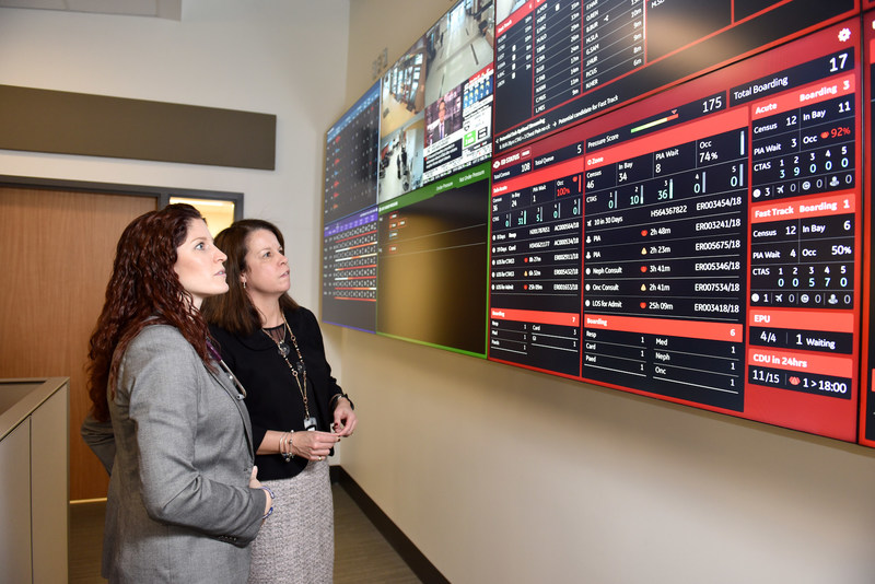 L-R Dr. Susan Tory, Command Centre Medical Director; Jane Casey, Command Centre Director (CNW Group/Humber River Hospital)