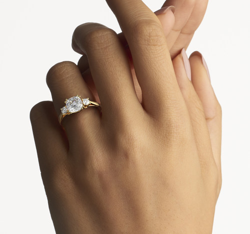 Meghan Markle Replica Ring by Jewlr.com. The Duchess Ring with Accent Stones is inspired by the Royal Engagement. (CNW Group/Jewlr)