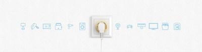 Wall Plug Type E (PRNewsfoto/Fibar Group SA)