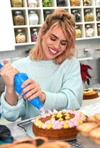 Billie Piper helps bake cakes at her local favourite shop, The Cake House in London, as she partners with Amex to encourage people to go out and 'Shop Small' this Saturday. (PRNewsfoto/Small Business Saturday)