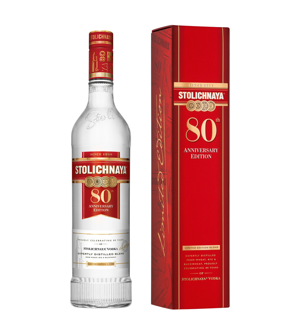 "Just in time for holiday gift lists, Stoli Vodka announced its limited edition 80th anniversary bottle today, featuring ""The Character of 1938. The Smoothness of 2018."""