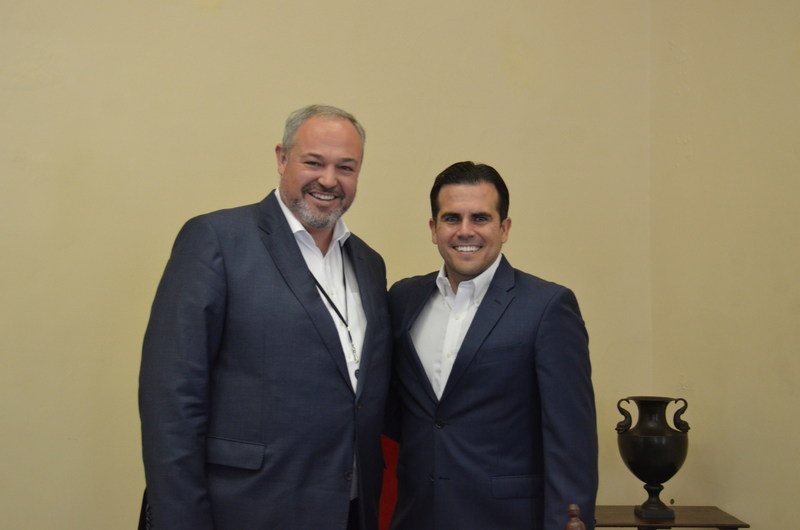 sonnen Global CEO, Christoph Ostermann, meeting with Ricardo Rosselló, Governor of Puerto Rico.