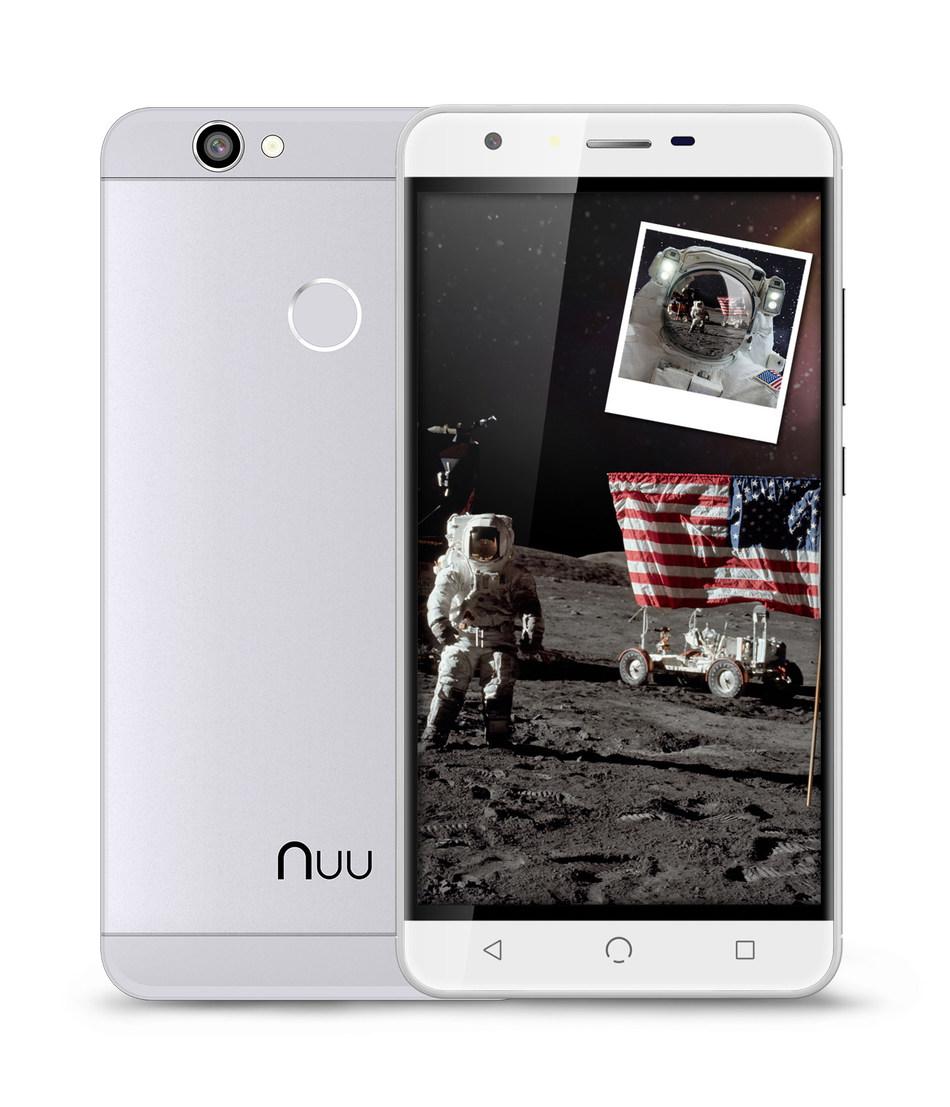 """Descubra o NUU X5 e embarque em uma jornada para um horizonte NUU. Você vai amar sua nova experiência com a tela gigante do X5 de 5,5"""" polegadas. Destrave o telefone com sua digital. Sistema Android Nougat e velocidade 4G permitirão você navegar em tempo real. Prepare-se para essa aventura. (PRNewsfoto/NUU Mobile)"""