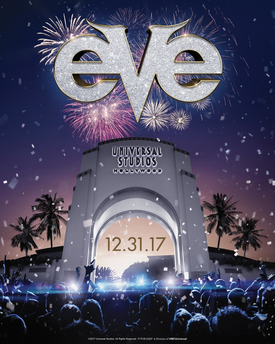 The Countdown to 2018 Begins at Universal Studios Hollywood as The Entertainment Capital of L.A. Hosts EVE, Hollywood's Biggest New Year's Party and Fireworks Finale on December 31. (PRNewsfoto/Universal Studios Hollywood)