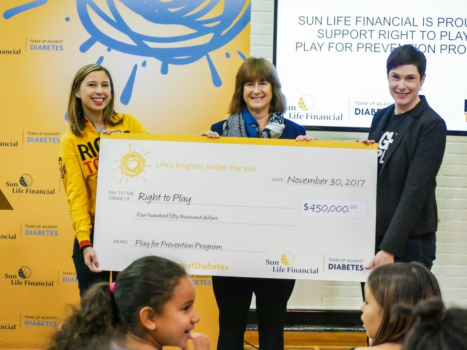 Sun Life Financial and Right To Play are thrilled to announce a program that aims to address the gaps in type 2 diabetes prevention among Indigenous youth populations. (CNW Group/Sun Life Financial Inc.)