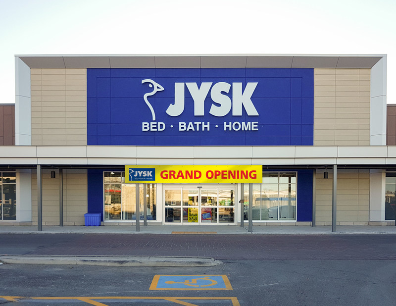 home decor stores brampton cnw jysk opens second brampton in shoppers world 11154
