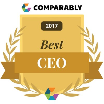 Comparably's 2017 Best CEO award for small-to-midsize companies in the U.S.