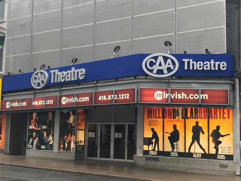 A new agreement between CAA South Central Ontario and Mirvish Productions takes effect on December 1st, which includes the naming of the CAA Theatre, formerly known as the Panasonic Theatre. (CNW Group/CAA South Central Ontario)
