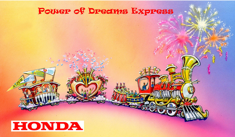 "Honda's ""Power of Dreams Express"" float entry will lead the 129th Rose Parade on January 1, 2018."