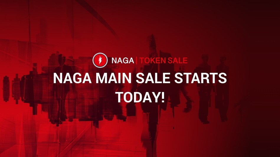 Full Steam Ahead - Fresh Off a Successful Pre-Sale Round, The NAGA Group Launches the Main Token Sale (PRNewsfoto/Naga Token Sale)