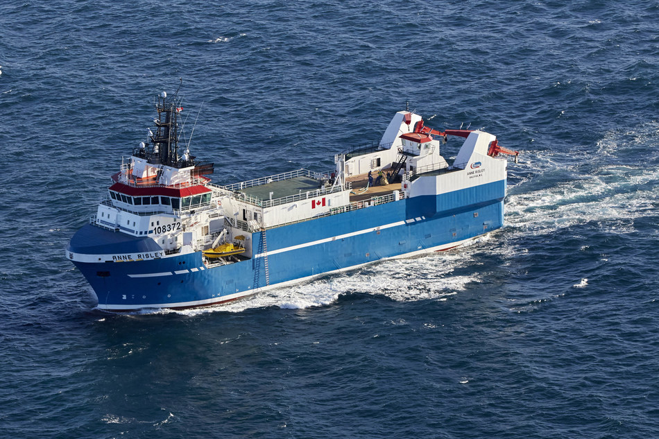 Clearwater welcomes the Anne Risley to its fleet of clam vessels, completing the Company's fleet modernization program and creating one of the most modern and technologically advanced fishing fleets in the world. (CNW Group/Clearwater Seafoods Incorporated)
