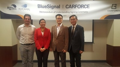 BlueSignal has secured a foothold in the U.S. market by signing an MOU with CarForce.