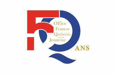 Logo : 50 ans Office Franco-Québécoise pour la Jeunesse (Groupe CNW/Les Offices jeunesse internationaux du Québec)
