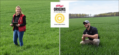 Kellogg's Origins(TM) farmers, Rita Herford and Justin Krick