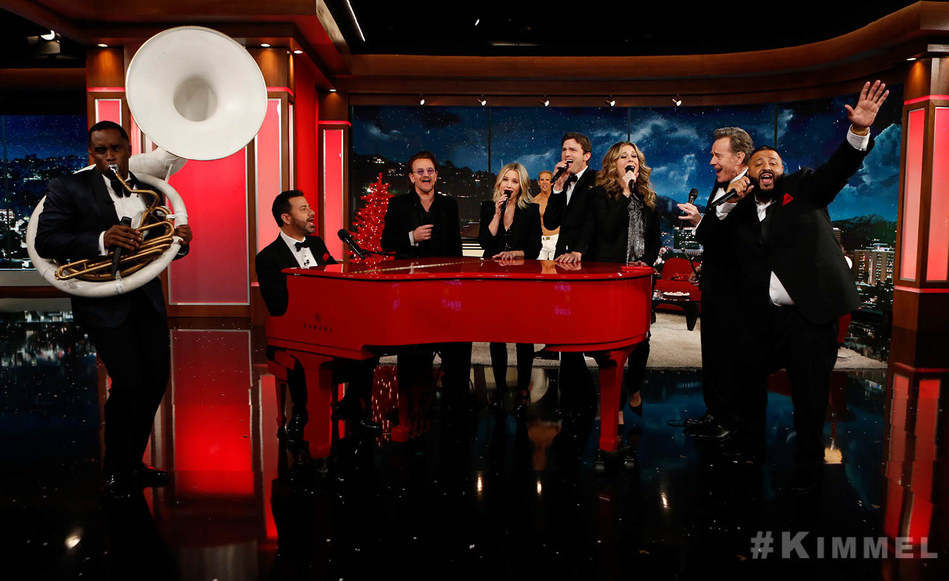 "Sean ""Diddy"" Combs, Jimmy Kimmel, Bono, Kristen Bell, Ashton Kutcher, Bryan Cranston, Rita Wilson, DJ Khaled on Jimmy Kimmel Live! (RED) Special"