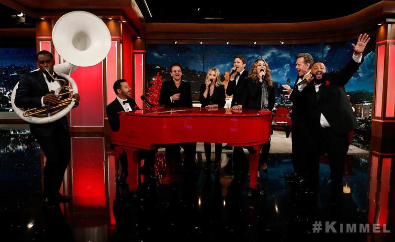 "Sean ""Diddy"" Combs, Jimmy Kimmel, Bono, Kristen Bell, Ashton Kutcher, Bryan Cranston, Rita Wilson, DJ Khaled on Jimmy Kimmel Live! (RED) Special"