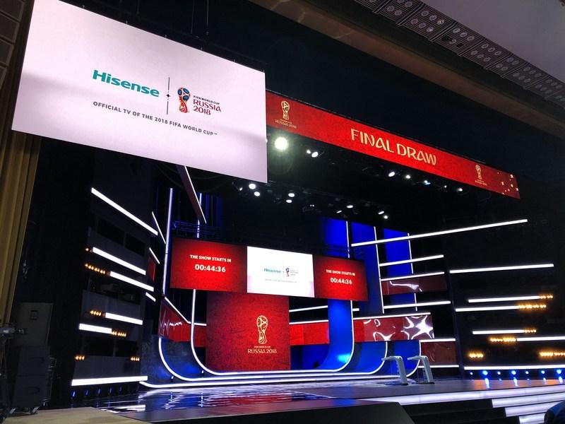 Hisense Laser TV brilha no Kremlin (PRNewsfoto/Hisense)