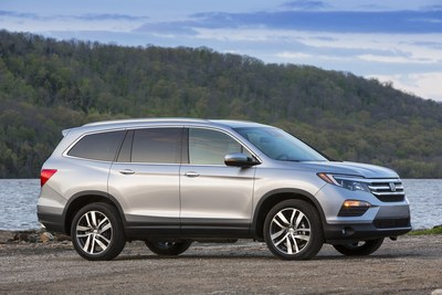 Sales of the Honda Pilot gained 57 percent as American Honda set numerous sales records in November.